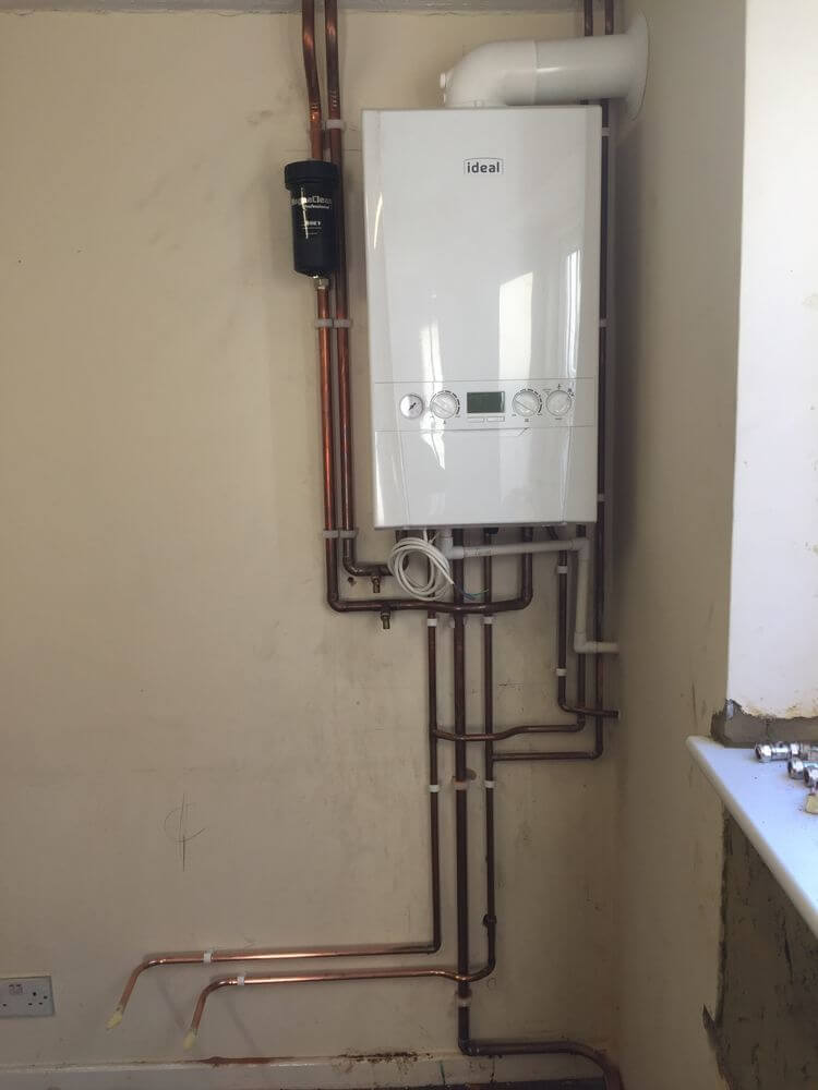 Ideal logic 35 kw Boiler Installed & Pipework Adaptions
