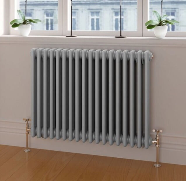 Reclaimed Radiator Old Cast Iron Refurbished & Installed with New Fittings